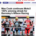 Wilson Racing Motostar 2017 Barnsley Chronicle April 2017