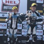 Wilson racing Motostar Thruxton 2017 podium