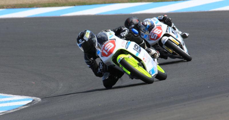 Scott Ogden level on points with third place rider