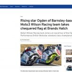 Sheffield Telegraph July 2018 Wilson Racing