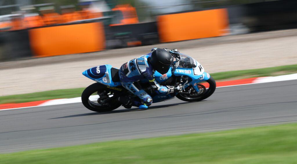 Luca Hopkins Wilson Racing british Talent Cup Donington 2021